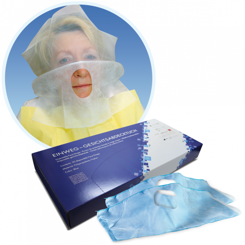 Prosafe Dispaosable Face Drape, Laser